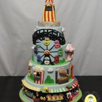 State Fair Themed Cake State Fair Themed Cake This cake was a part of the competition. It has so many sugar elements most of which where no bigger than an inch...