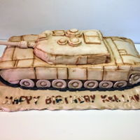 Tank Cake First cake for icing smiles! The little boy requested a military cake and expressed an interest in tanks so I decided to make the whole...