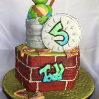 Teenage Mutant Ninja Turtle Teenage Mutant Ninja Turtle cake. I made this cake for my nephew who just turned 5. The cake flavors were lemonade cake with fresh...