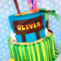 Tropical Theme Cake Luau/tropical theme cake
