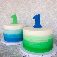 Twin Smash Cakes Twin smash cakes with ombre buttercream