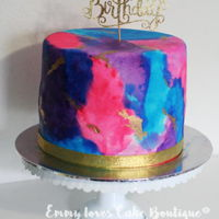Watercolour Cake Watercolor cake for a birthday