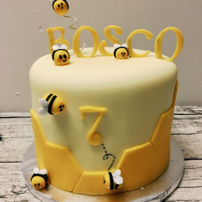 Bee Theme Birthday Cake