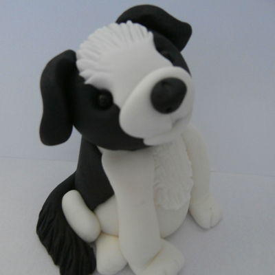 Border Collie Dog Border collie made from sugar paste