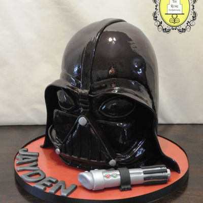 Darth Vader I was pleasantly surprised at how easy this cake was to make. The hardest part about it was trying to figure out how the muzzle of the mask...