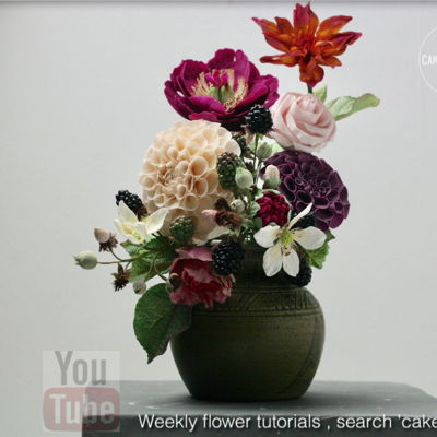 Flower Arrangement on Cake Central