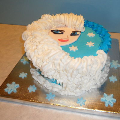Frozen Buttercream and modeling chocolate decorations