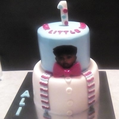 Our Little Man Edible picture and fondant decorations