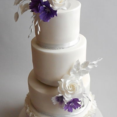 Wedding Cake White And Purple