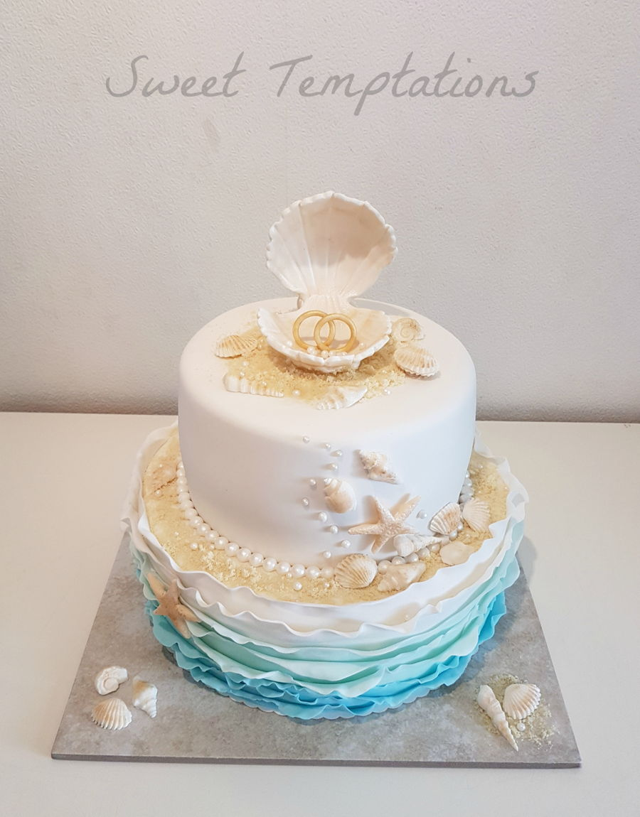 Beach Themed Wedding - CakeCentral.com
