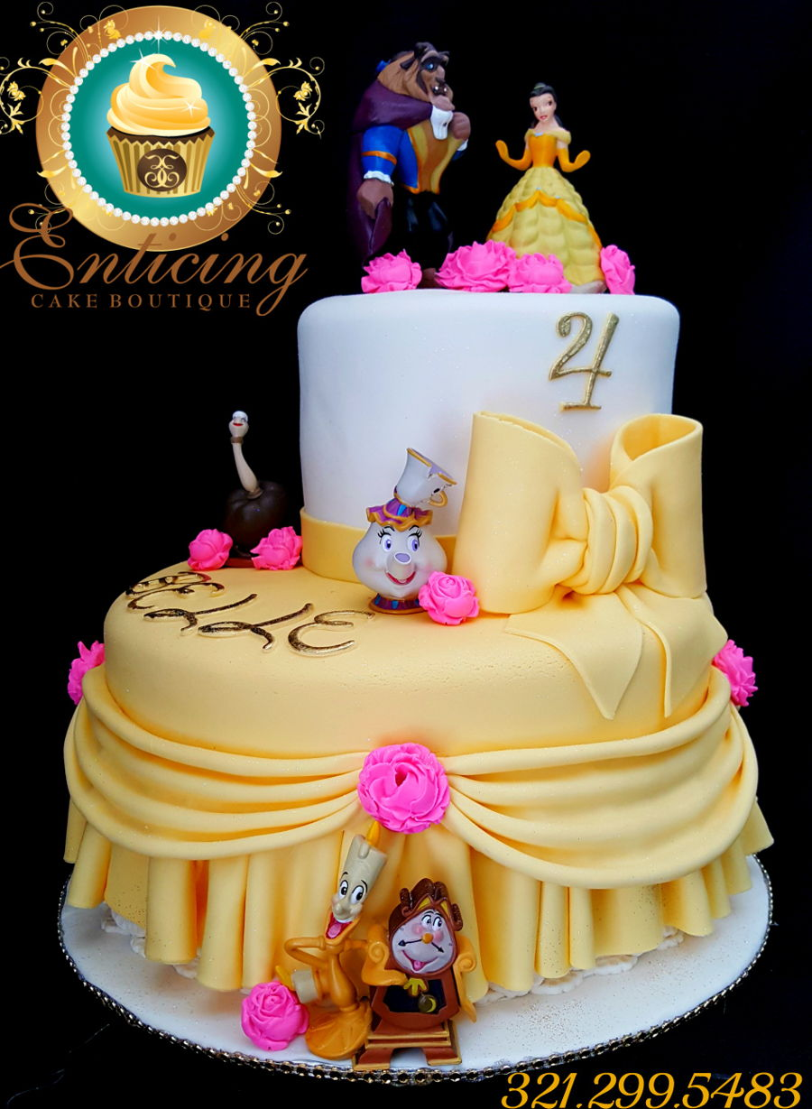 Beauty And The Beast Cake CakeCentralcom