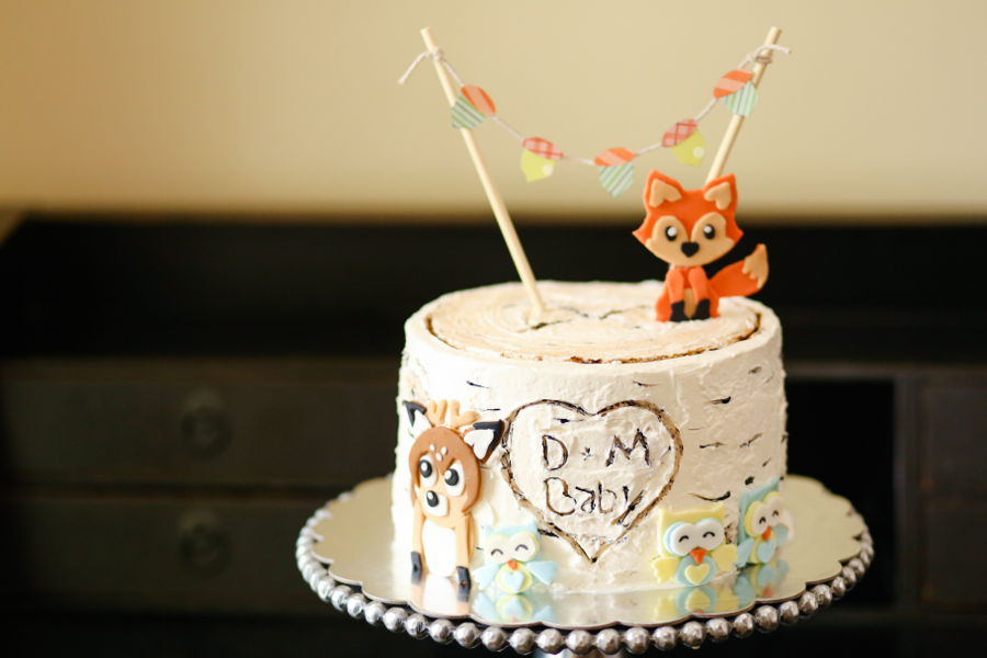 Birch Tree Woodland Baby Shower Cake Cakecentral