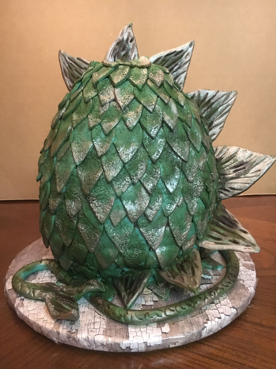 Game Of Thrones Dragon Egg. on Cake Central