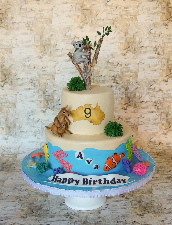 Astonishing Koala Australia Birthday Cake Cakecentral Com Funny Birthday Cards Online Hetedamsfinfo