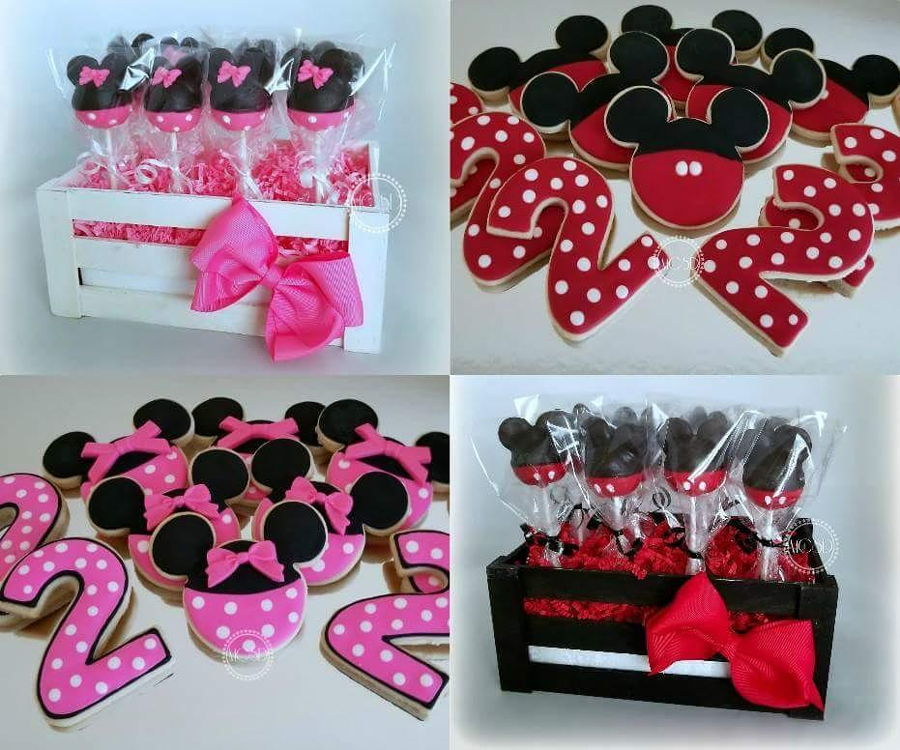 Minnie & Mickey Mouse Themed Cake Pops And Cookies ... Mickey And Minnie Cake Pops Instructions