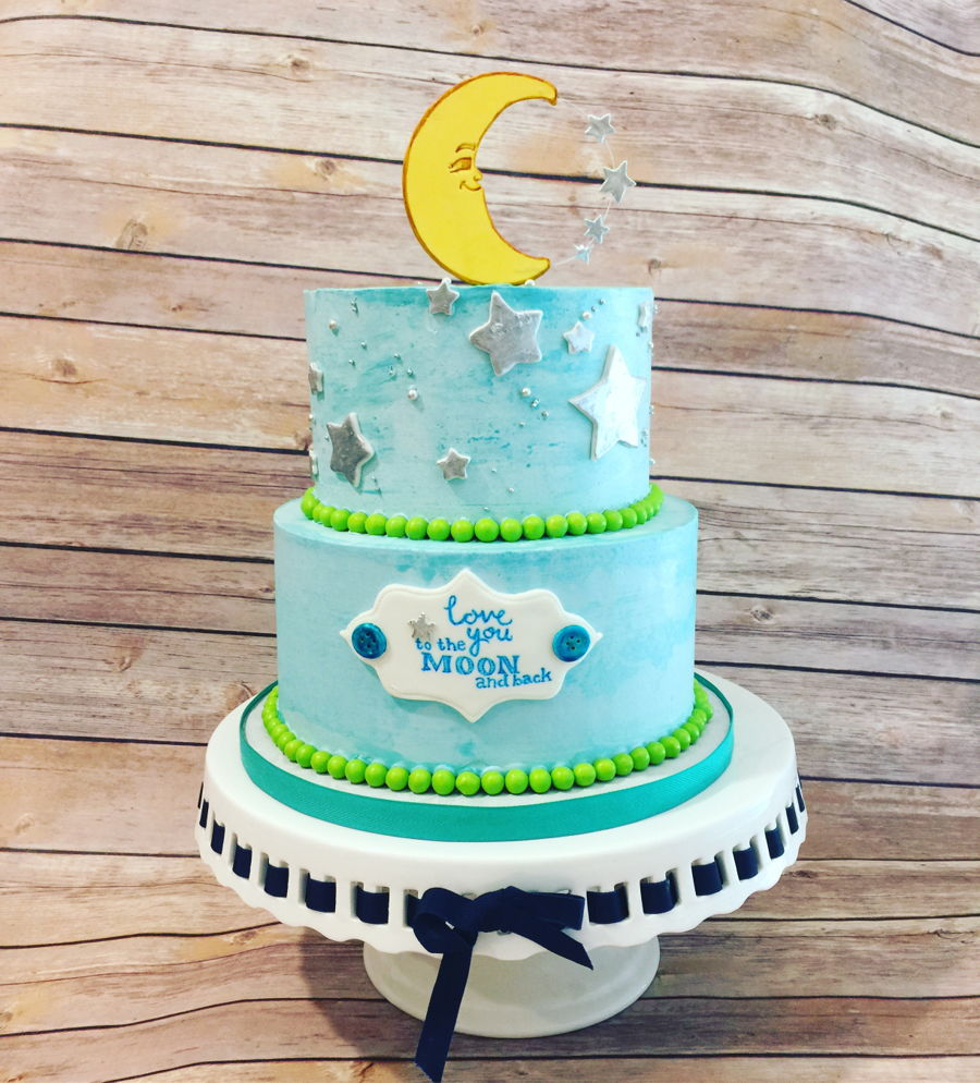 Moon Baby Shower on Cake Central