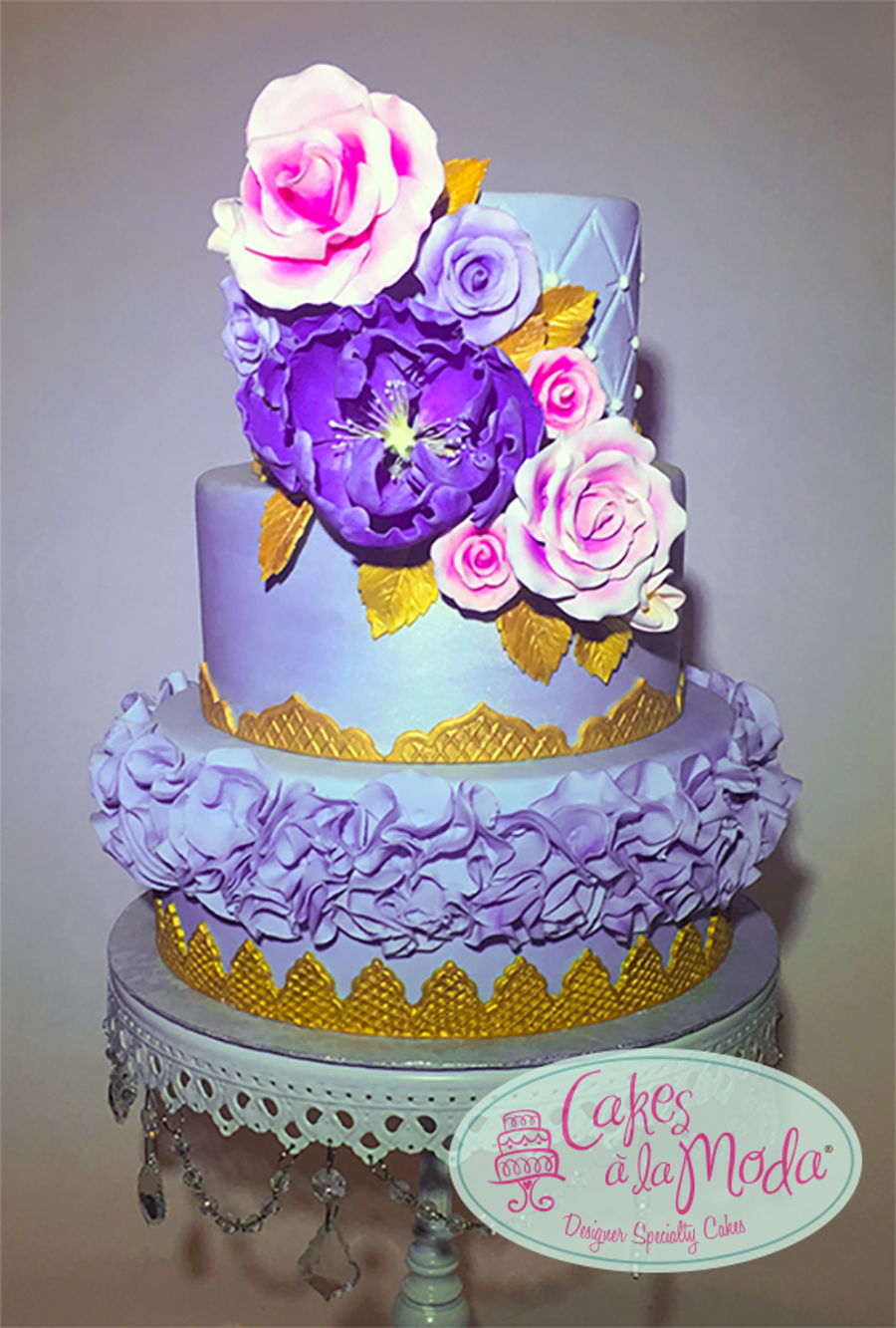 Purple & Gold on Cake Central