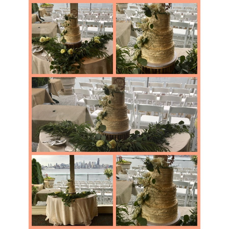 Rustic Ivory Wedding Cake on Cake Central