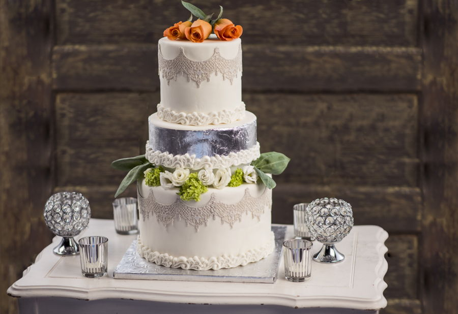 Silver Winter Wedding Cake on Cake Central