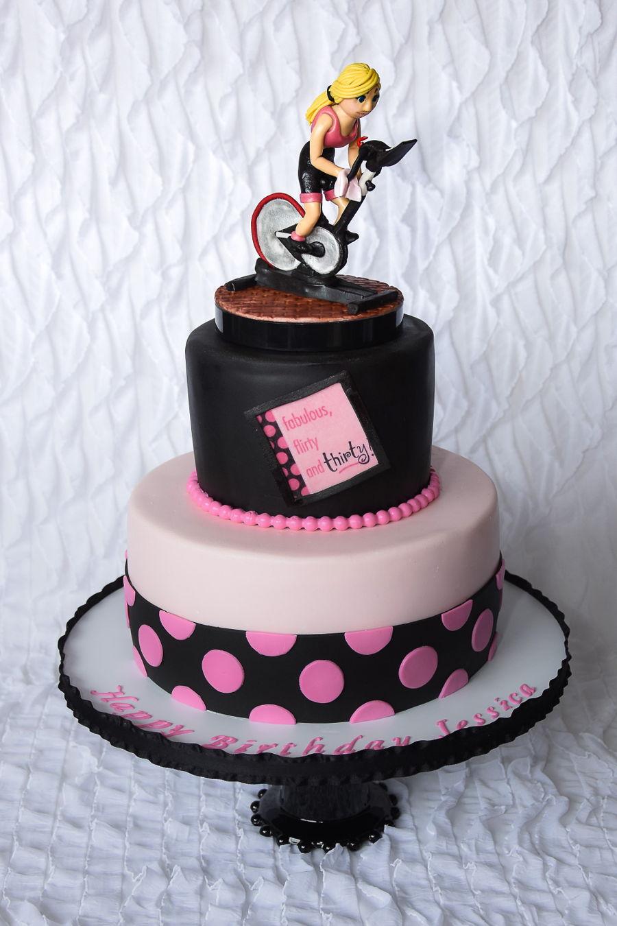 Spin Birthday Cake CakeCentralcom