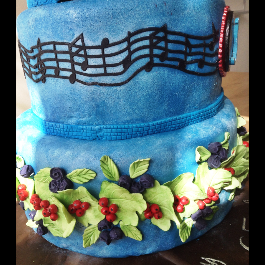 Three Tiered Life Themed Cake For Male 65th Birthday Cakecentral Com