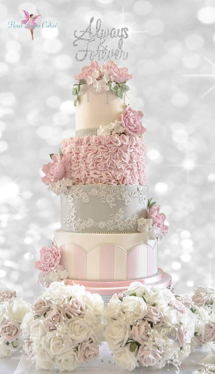 Vintage Themed Wedding Cake - CakeCentral.com
