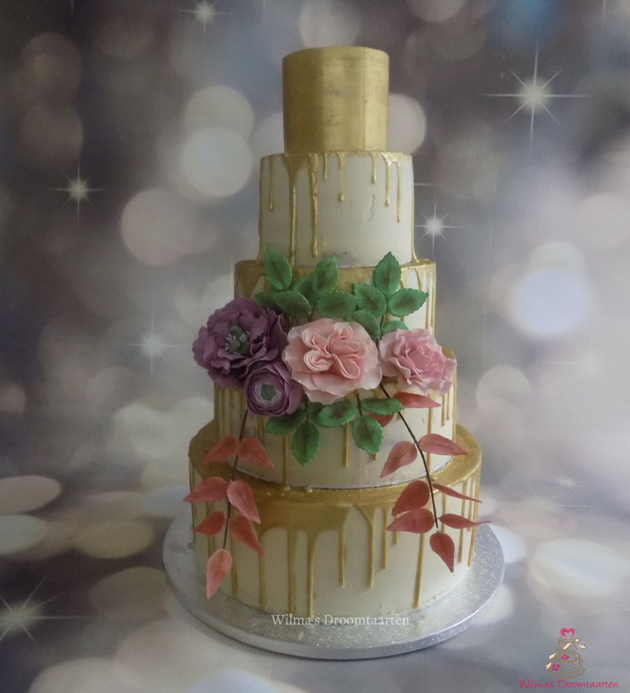 Wedding Drip Cake on Cake Central