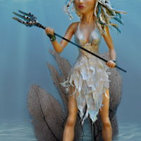 "Amphitrite, Wife Of Poseidon Amphitrite is 14"" tall, made of modeling chocolate supported by a wire armature. Her dress is made of wafer paper and colors are..."