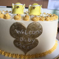 Baby Shower Gold and yellow theme shower.