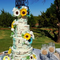 Birch Bark Wedding Cake Birch Bark Wedding Cake This four tier birch bark wedding cake was created with modeling chocolate on the sidewalls. I chose modeling...