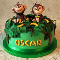 Cheeky Monkey Cake Cheeky monkey cake Birthday cake for grandsons first birthday