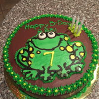Fbt Frog Chocolate cake with Frozen Buttercream Overlay