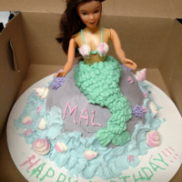 Mermaid Doll Cake My first attempt at a doll cake