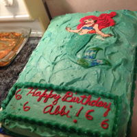 Princess Ariel FBT Ariel Birthday cake