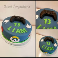 Ps4 Fan Cake Birthday cake for a playstation gamer!!
