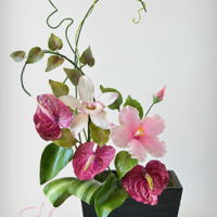 Sugar Flowers Bouquet SUGAR FLOWERS BOUQUETANTHURIUM, HIBISCUS , ORCHID
