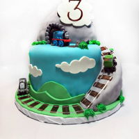 Thomas The Tank Engine Cake & Cookies A Thomas the Tank Engine inspired adventure cake!