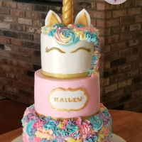 Unicorn Cake This theme is so popular right now. I have seen so many different variations of it done all over the internet. This design was done by my...