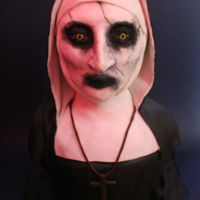 Valak The Nun Bust Cake My attempt at the Nun, Valak, from Conjuring 2 bust cake for Halloween. Been a while since I've done a cake and certainly had its...