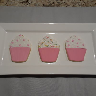 Cupcake Cookies NFSC with fondant and sprinkles