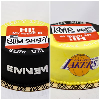 Eminem/lakers Cake