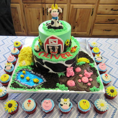 Farm Cake For Baby Shower