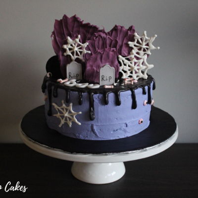 Halloween Drip Cake Tutorial on Cake Central