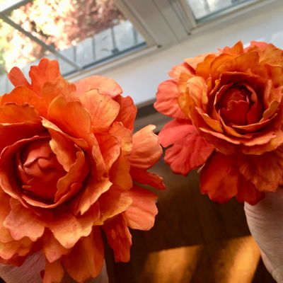 Hand Made Fall Sugar Peonies