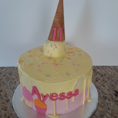 Ice Cream Cone Birthday Cake