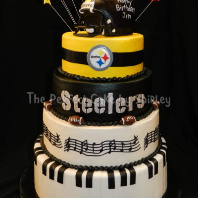 Pittsburgh Steelers/music Cake