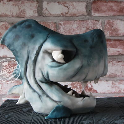 Shark Cake 3D Made after a 'morning scribble' from Chris Ryniak. Changed a bit because of the construction inside.Loooooved making this one! I...