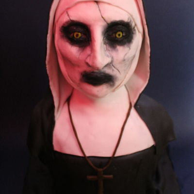 Valak The Nun Bust Cake