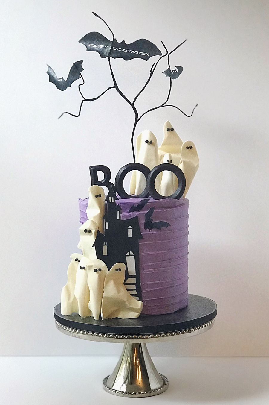 Boo! Halloween Cake on Cake Central