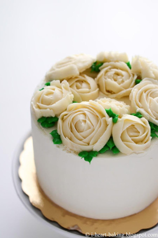 Buttercream Flower Floral Wreath Cake - CakeCentral.com